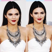 jewels,kendall jenner,jewelry,necklace,statement necklace,statement,keeping up with the kardashians,model,celebrity style,celebrity