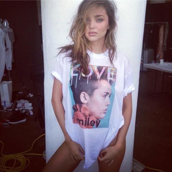 t-shirt miranda kerr shirt miley cyrus