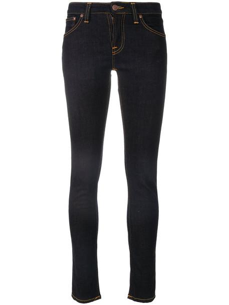 NUDIE JEANS CO jeans skinny jeans women spandex cotton blue