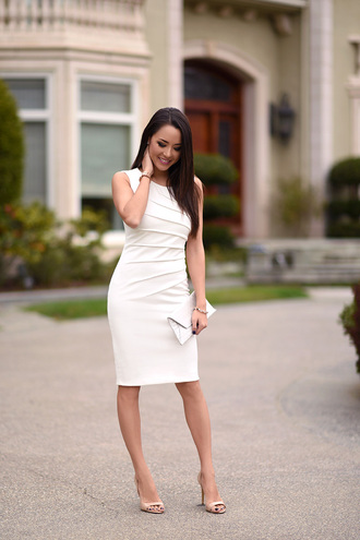 hapa time blogger white dress classy
