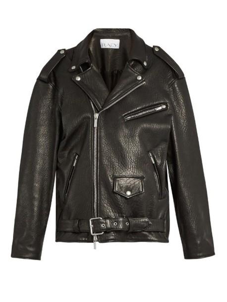 Leather In Raey Biker Jacket Oversized Tumbled Black oeQCxBrdW