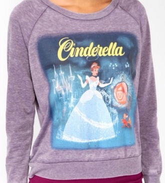 sweater purple cinderella sweet