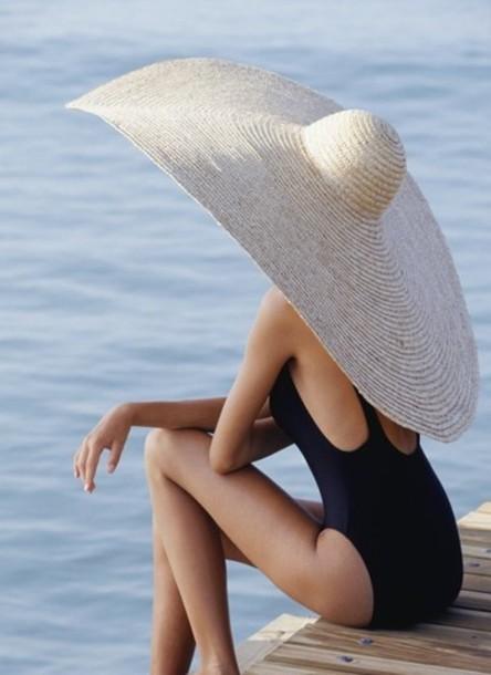 hat summer hat beach summer large hat beige sun extra large floppy hat  swimwear big hat 63ebf1030d2