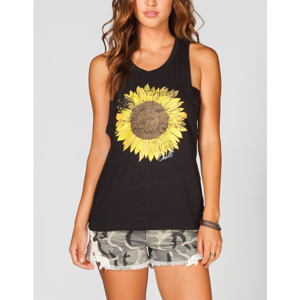 O'NEILL Sunflower Shredder Womens Tank - Polyvore