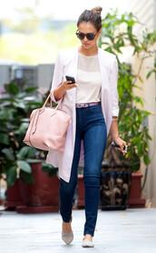 top,jessica alba,bag,shoes