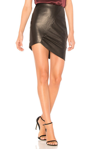 skirt leather skirt leather black