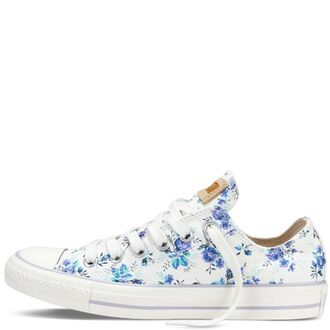 shoes converse all star floral flowers nice chuck taylor all stars