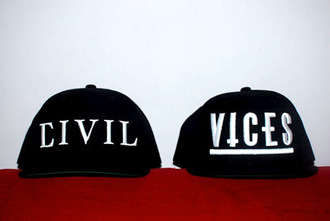 hat civil snapback vices trap cap black