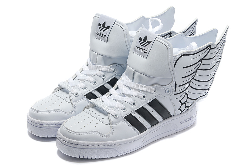 Shop Jeremy Scott x Adidas Originals JS Wings 2.0 White Black popular shoes and send in free shipping