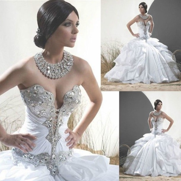 Dress wedding dress elegant dress sexy diamond for Most sexy wedding dresses