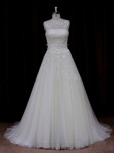 dress prom prom dress tulle dress lace lace dress fabulous gorgeous beautiful love bride pretty lovely sweet sweetheart dress leaves floral pattern maxi maxi dress long dress special occasion dress wedding dress wedding wedding clothes dressofgirl princess wedding dresses