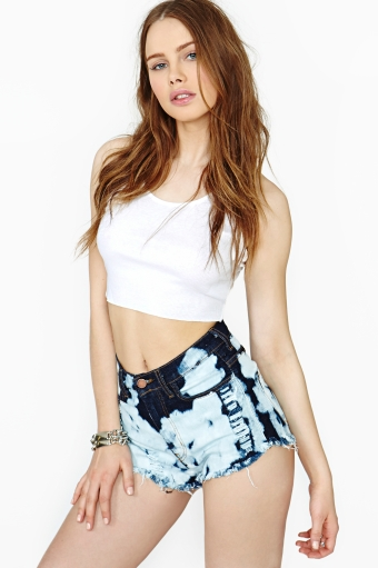 Bleach street cutoff shorts  in  clothes sale at nasty gal