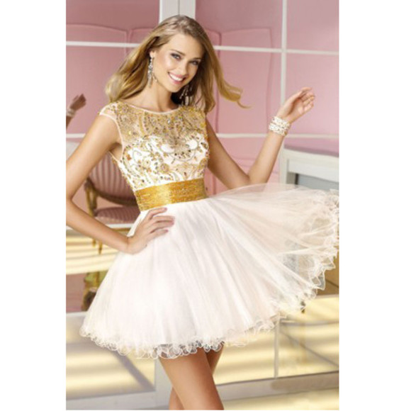 ivory dress ivory sleeveless scoop neckline a line homecoming dress evening/homecoming dresses