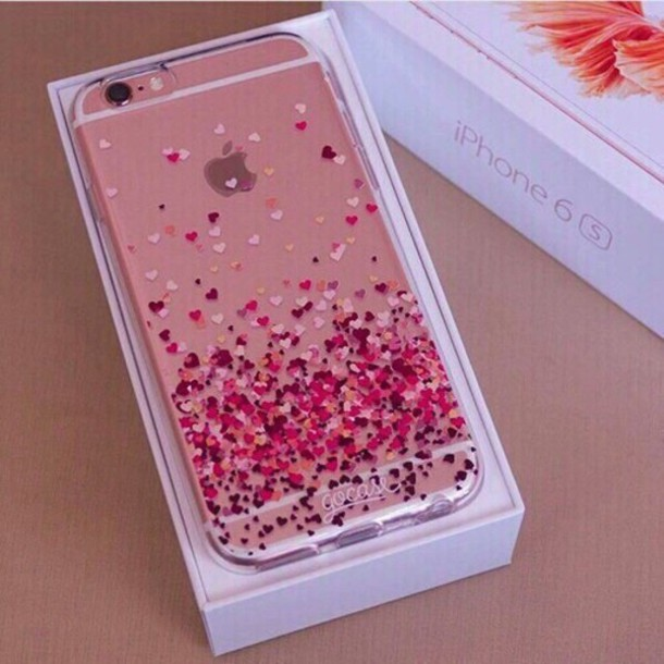 Phone Cover Heart Pink Iphone 6 Rose Gold Coverr