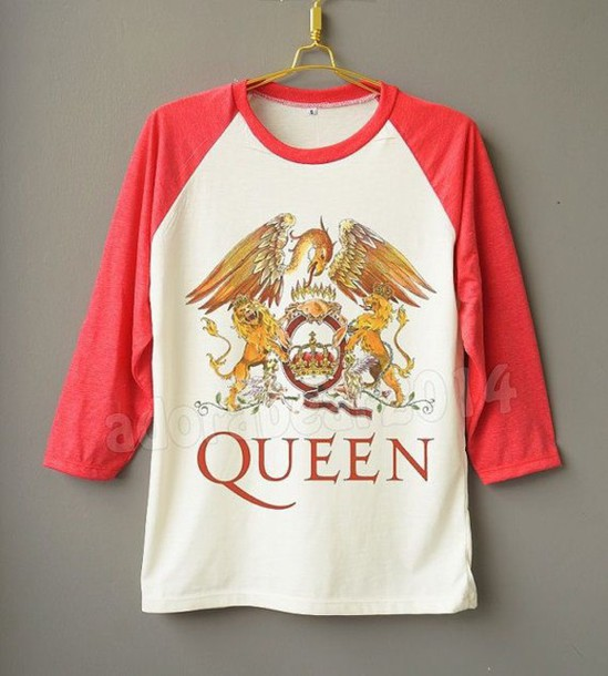 f0c787b00105 shirt queen rock band baseball tee graphic tee band t-shirt band merch