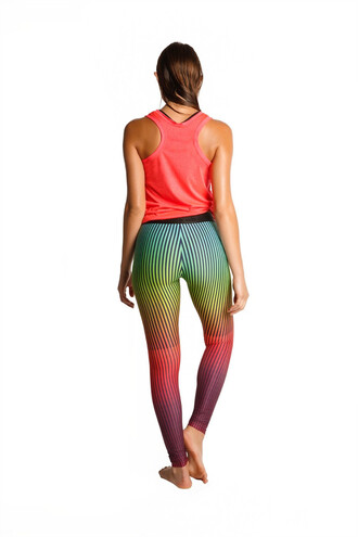 leggings agua bendita activewear blue green pink print purple red teal yellow bikiniluxe