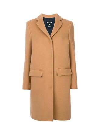 coat women wool brown
