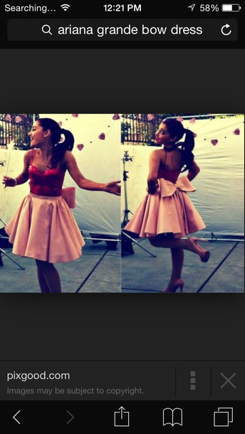 dress ariana grande bows