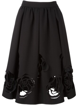 skirt rose black