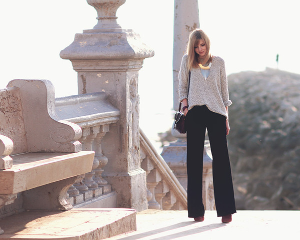 bekleidet sweater pants shoes jewels bag
