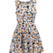 Robe turio brigitte bardot ecru pour femme - galerieslafayette.com