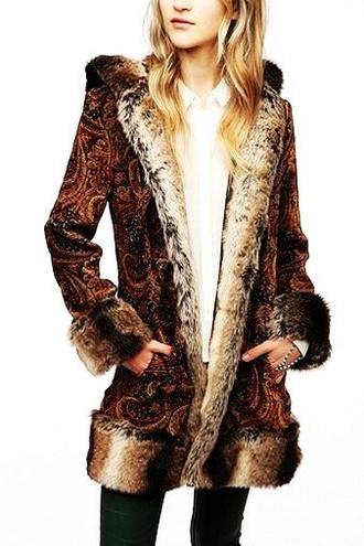 boho faux fur jacket faux fur hendrix by minkpink