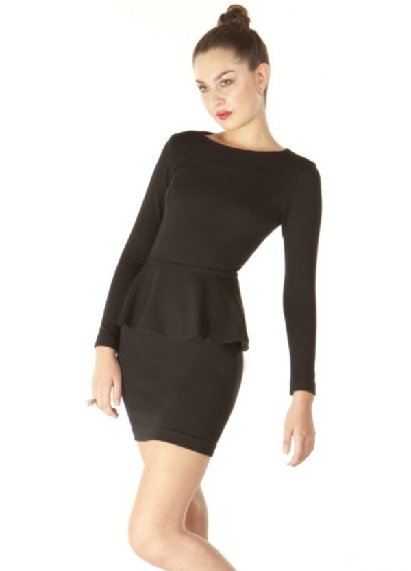 dress peplum peplum dress little black dress black peplum