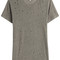 Distressed linen t-shirt