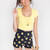 Lucy Basic Crop Top - Yellow