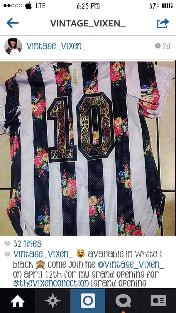shirt floral jersey