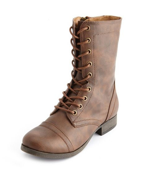 Up combat boot: charlotte russe