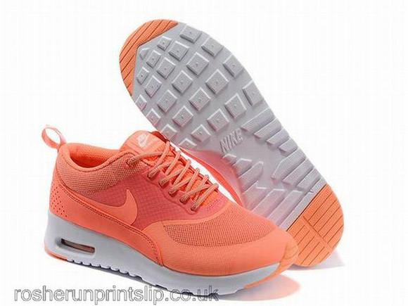 women shoes air max thea print running footwear nike orange dress
