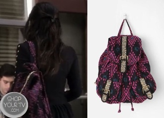 bag pretty little liars pll backpack backpack pink blue cute pll clothing