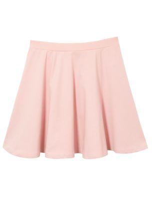Teens Deep Pink Jersey Skater Skirt