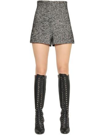 shorts wool grey