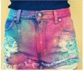 shorts,cute,cool,galaxy print