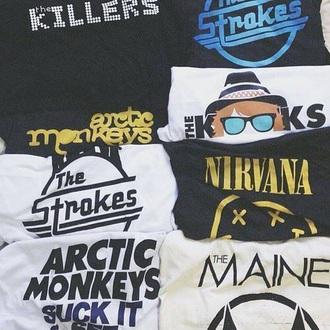 shirt vintage tshirt vintage vintage pullover vintage t-shirt oversized t-shirt oversided nirvana t-shirt arctic monkeys tee the strokes the killers