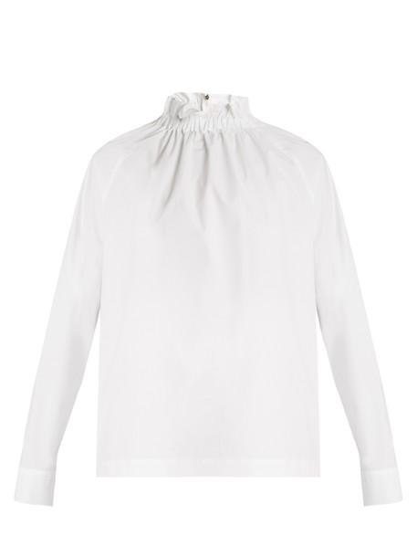 MSGM top high cotton white