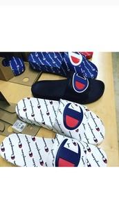 shoes,champion,slide shoes