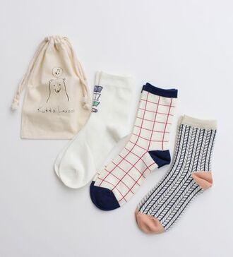 socks pink navy white cute geometric