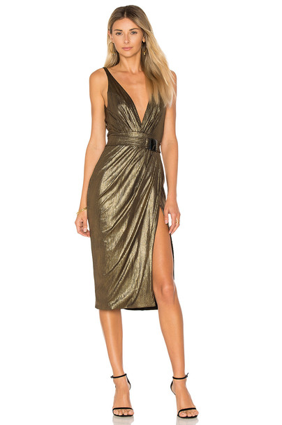 46322fe2e0db Zhivago After Dark Dress in gold / metallic - Wheretoget