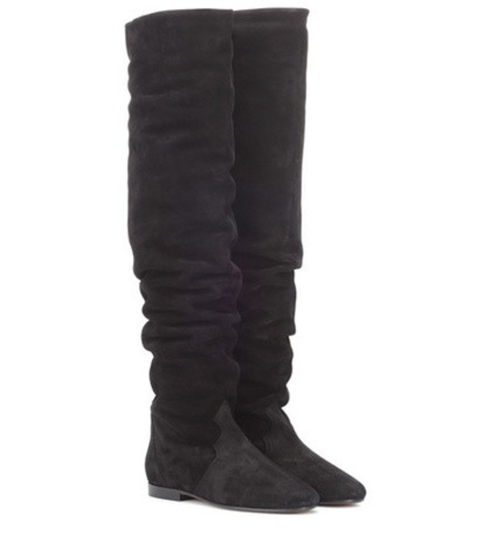 Isabel Marant Ranald suede suede over-the-knee boots in black