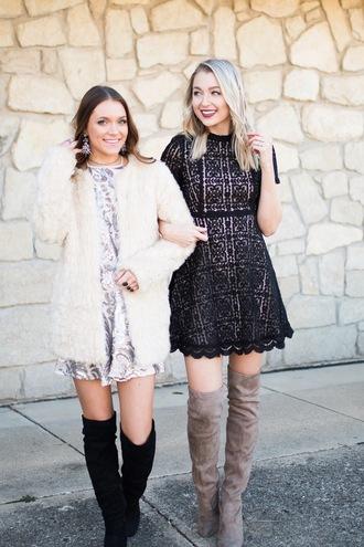 love lenore blogger dress shoes jewels black dress mini dress lace dress