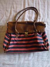 bag,stripes,pink,school bag,handbag