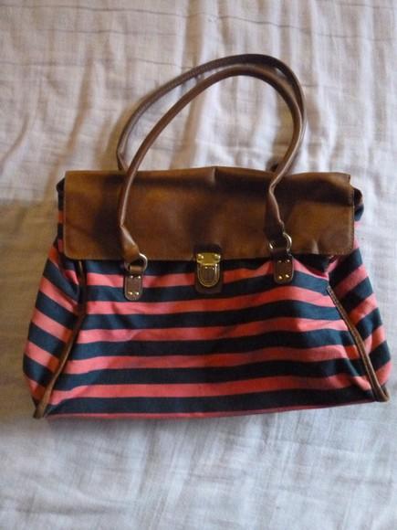 pink bag stripes bags for back to school handbag