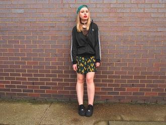 the velvet black grunge blogger jacket top shorts hat