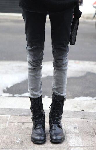 jeans pants tie dye gothic punk bleached original ombre unisex