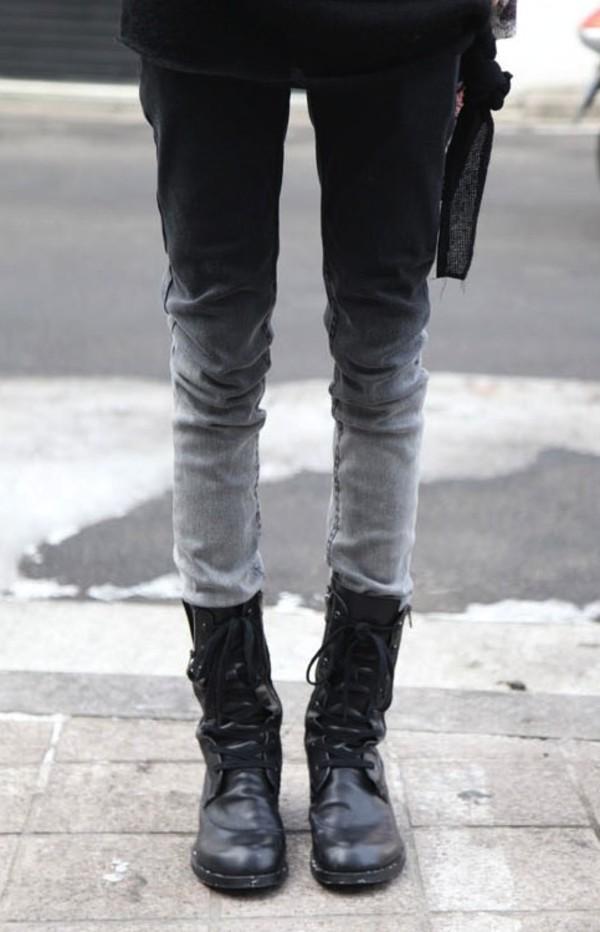 jeans pants tie dye goth punk bleached original ombre unisex