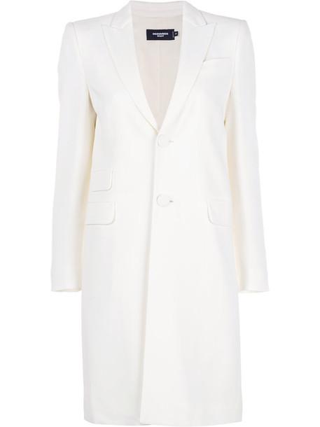 Dsquared2 coat women spandex white