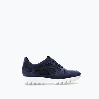 shoes zara semelle sneakers basket black